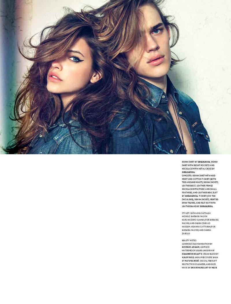 Barbara Palvin Dons Denim Looks for Lorenzo Marcucci's Flaunt Shoot