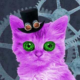 Funcky Love's Altered Art: Steampunk Kitty