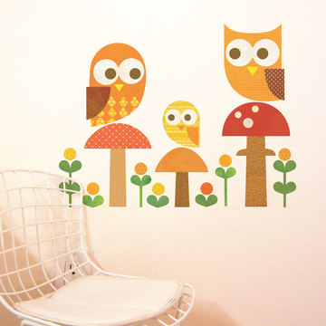 Fab.com | Owl Family Wall Decal