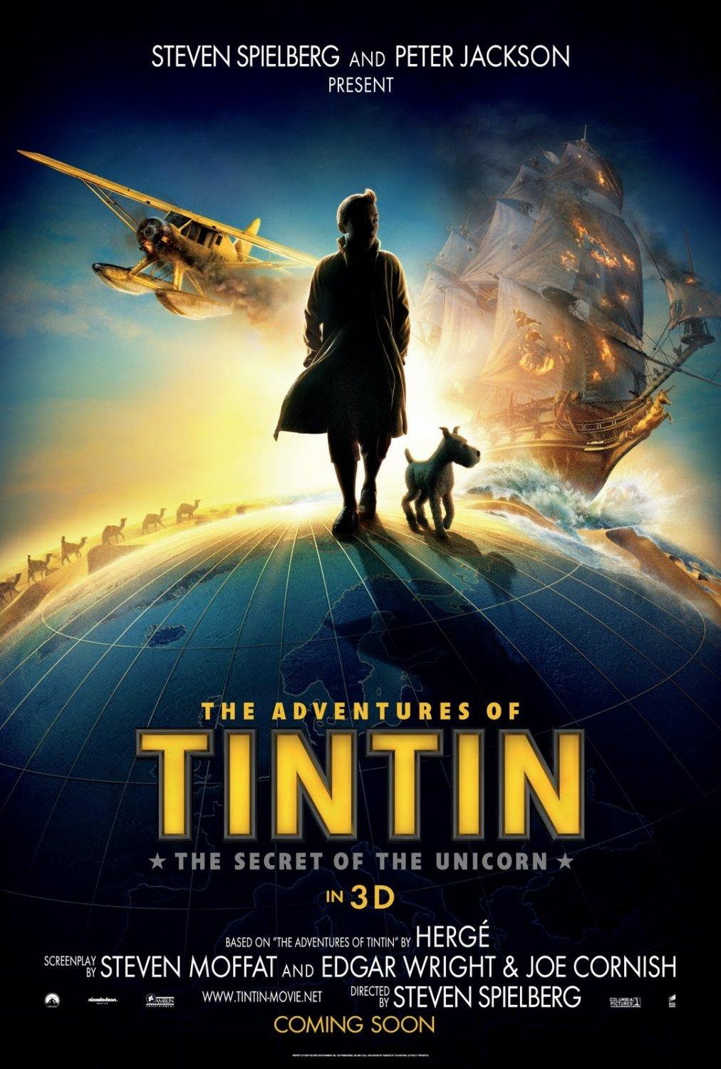 Les Aventures de Tintin: Le Secret de la Licorne: Extra Large Image Movie Poster - Internet Movie Poster Gallery Prix