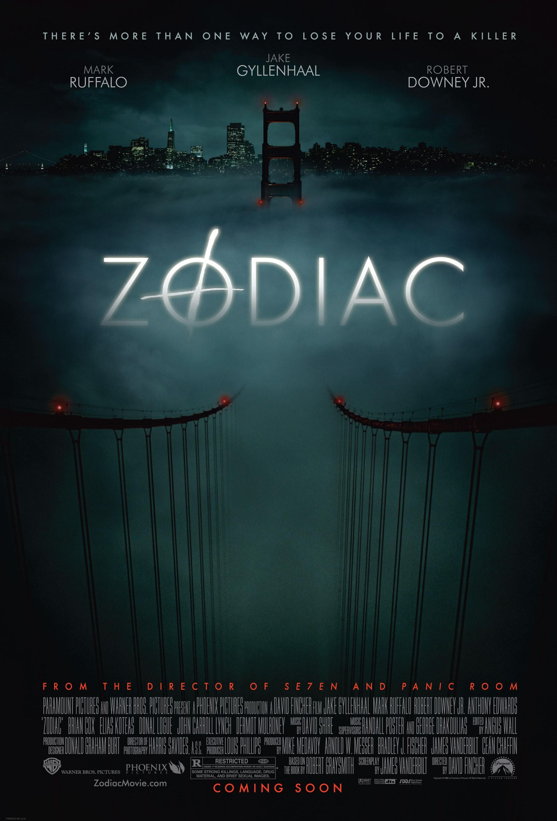 Zodiac: Mega image au format Movie Poster - Internet Movie Poster Gallery Prix