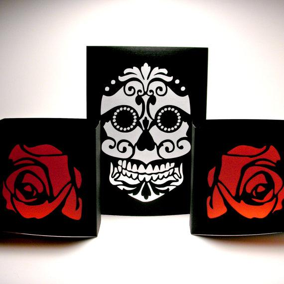 sugar skull luminaries day of the dead home decorminkspaperie