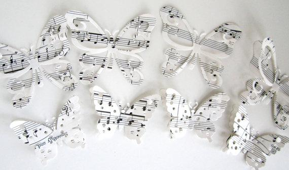 Butterfly cake toppers large size layered by MagpieandMax on Etsy