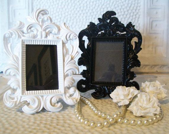 1 Black or WhiteWedding Table Number FramesSmall by shabbymcfabby