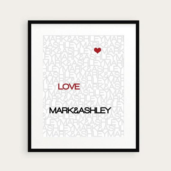 Love Print Valentine Art Print Love and by happyprintsshop on Etsy