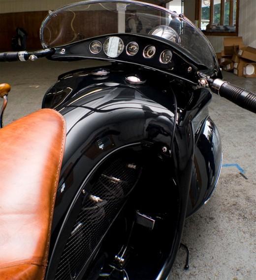 Art Deco K.J Henderson Motorbike, 1936 | Retronaut