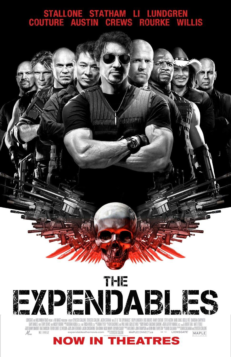 The Expendables: Extra grande image Movie Poster - Internet Movie Poster Gallery Prix