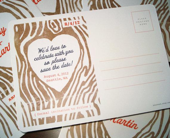 Save the Date Postcards Wedding Invitations by shoutout on Etsy