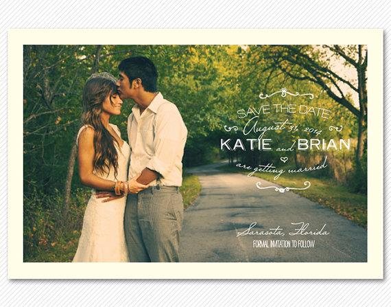 Save The Date Postcard or Magnet Early Morning by cardcandydotcom