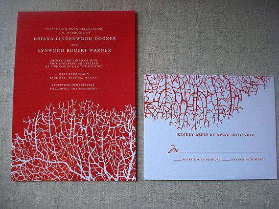 Wedding Invitation Reef by lisasamartinodesign on Etsy