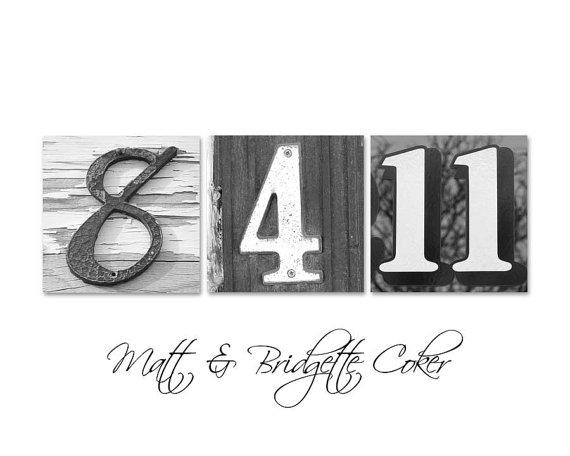 Custom Wedding Frame your Date / Number Photos by artofwhimsyphoto