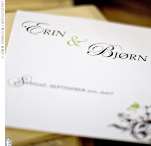 Real Weddings - Erin & Bjorn: A Fall Wedding in Balsam Lake, WI - The Ceremony Programs