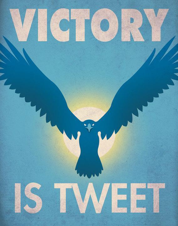 Social Media Propaganda Posters by Aaron Wood | inspirationfeed.com