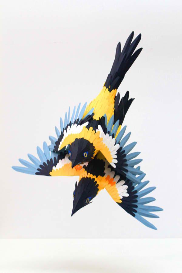 Diana Beltran Herrera's Bird Paper Sculptures | Trendland: Fashion Blog & Trend Magazine