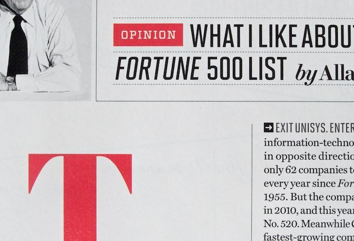 "Fonts In Use – Fortune Magazine, ""500"" Issue"