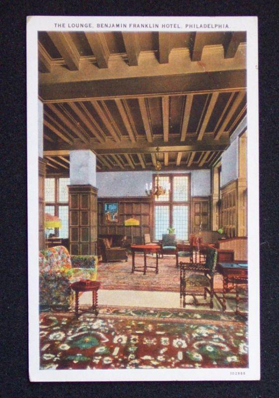 1920s Lounge Benjamin Franklin Hotel Philadelphia PA PC | eBay