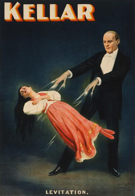 Kellar: Levitation, magician poster, ca. 1894 | Flickr - Photo Sharing!