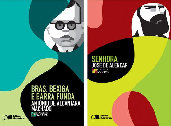 rex design: graphic project for the covers of 'saraiva classics' book collection