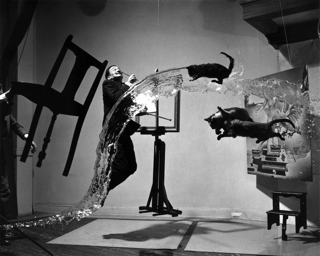 Making of Dali Atomicus (Salvador Dalí A) by Philippe Halsman, 1948 | Flickr - Photo Sharing!