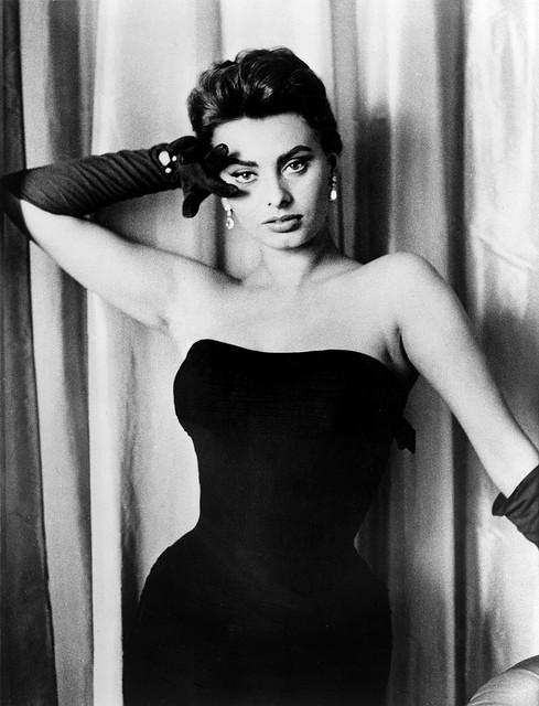 Sophia Loren by unknown photographer, 1957 | Flickr - Photo Sharing!