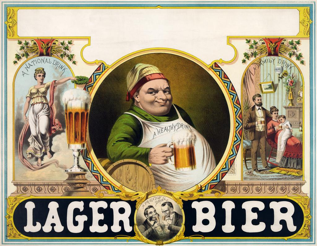 Lager bier, stock advertising poster, 1879 | Flickr - Photo Sharing!