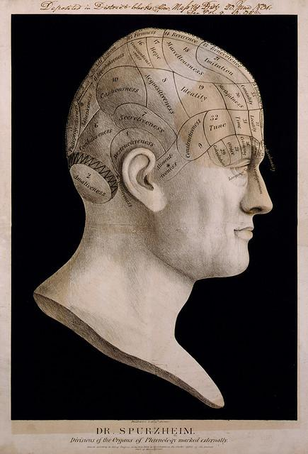 Dr. Spurzheim's phrenology chart, 1834 | Flickr - Photo Sharing!