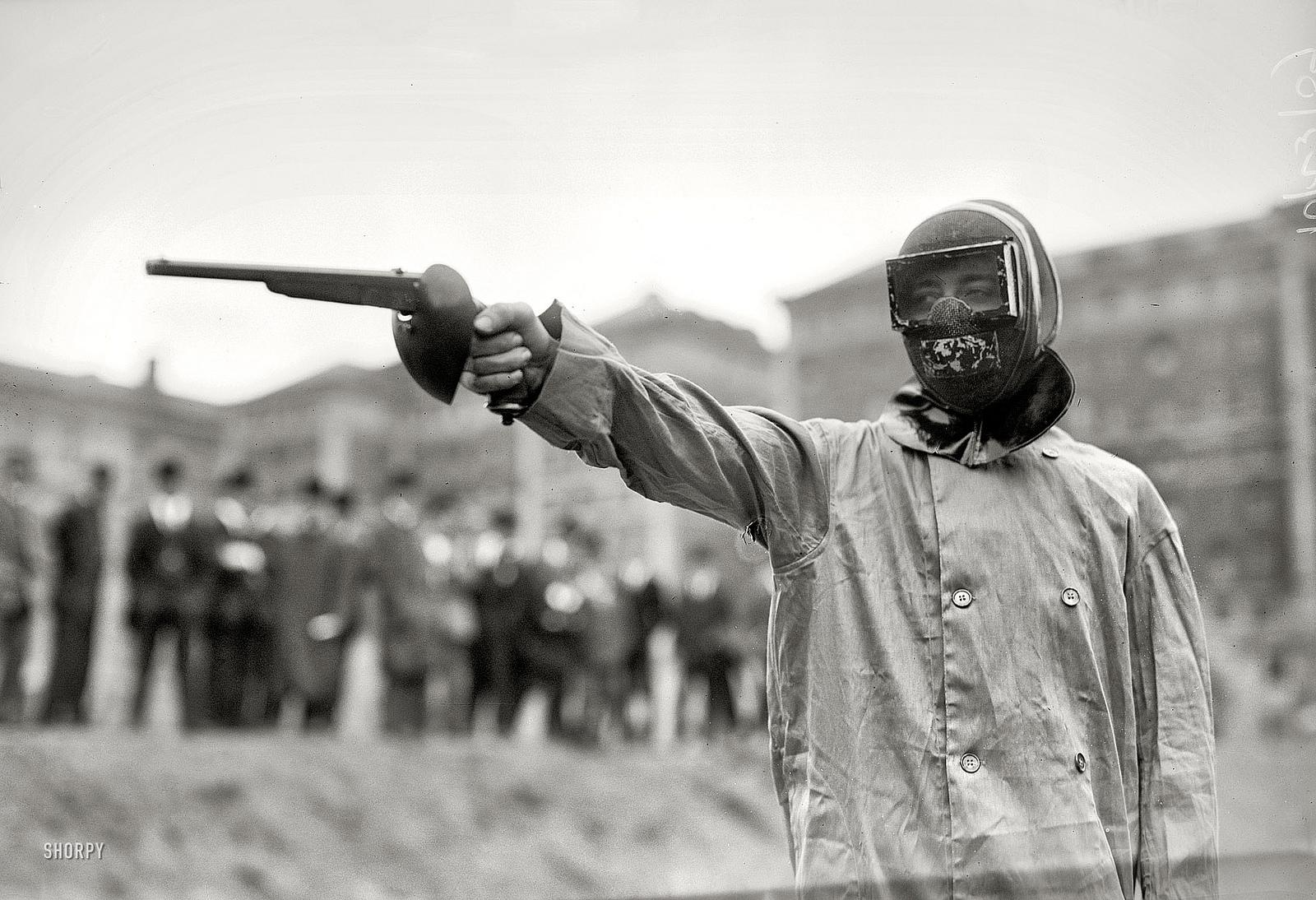 Duelling with wax bullets October 23, 1909 | Flickr - Photo Sharing!
