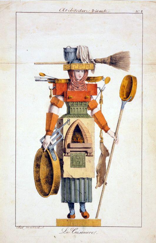 Architecture vivante, La Cuisiniere, chez Martines (1780-1830), Litograph   Flickr - Photo Sharing!