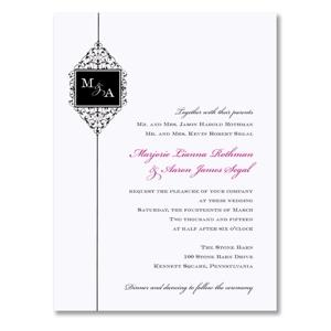 William Arthur - Bright White Ironwork Scroll Wedding Invitations - 90-88999