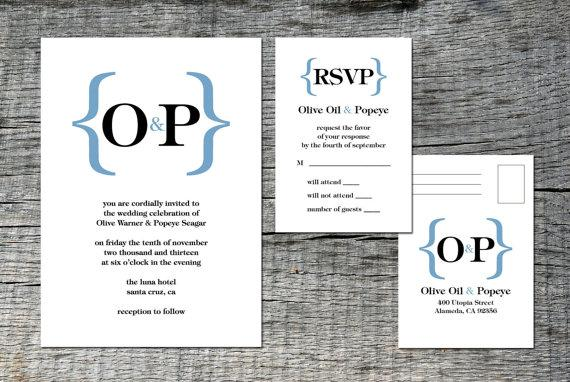 Beautiful Typography Wedding Invitation and by differentdesigns10