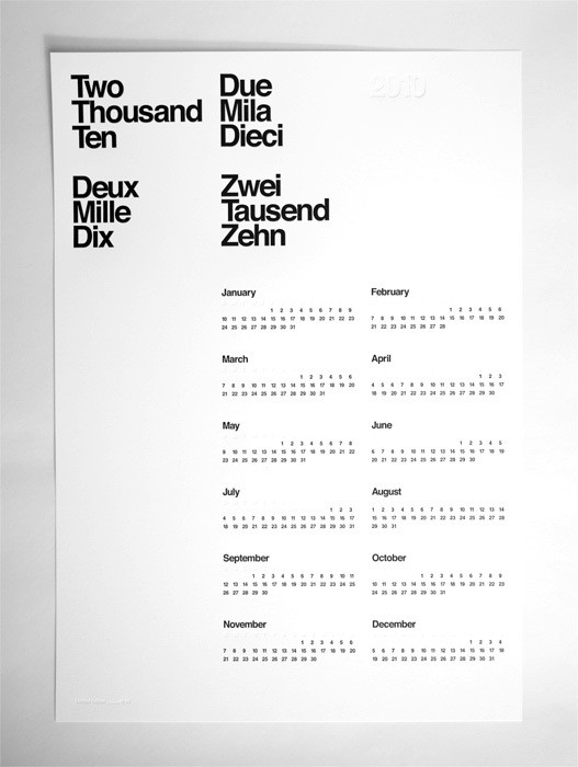 designs and packaging / AisleOne | Limited Edition 2010 Letterpress Calendar