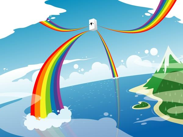 rainbows rainbows 1024x768 wallpaper – rainbows rainbows 1024x768 wallpaper – DeviantART Wallpaper – Desktop Wallpaper