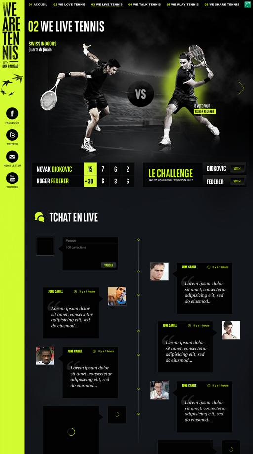 We Are Tennis sur la conception Web Servi