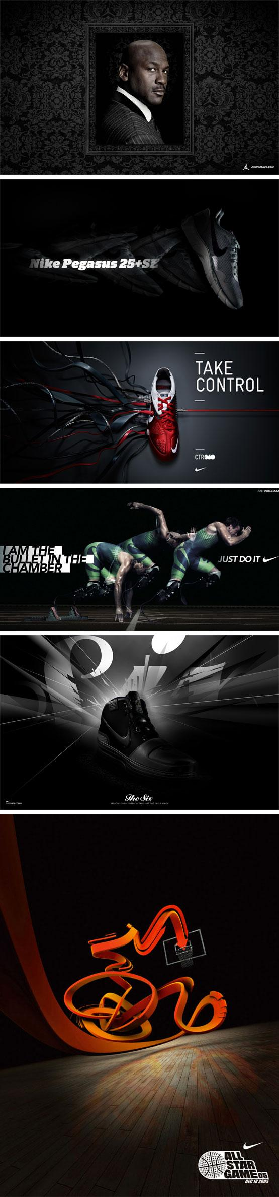 Sélection inspiration #2 Nike black | MRG LAB BLOG creative experience