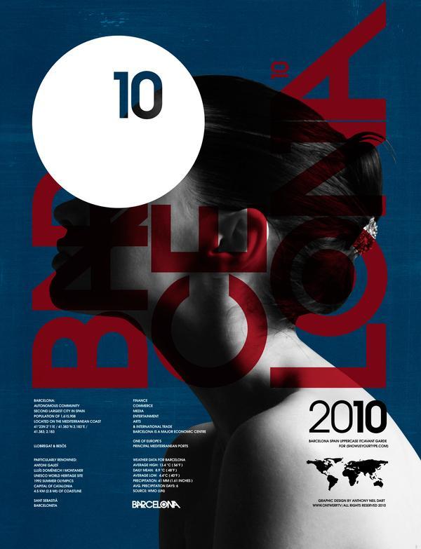 Barcelone - Exposition Showusyourtype 2010 sur le Réseau