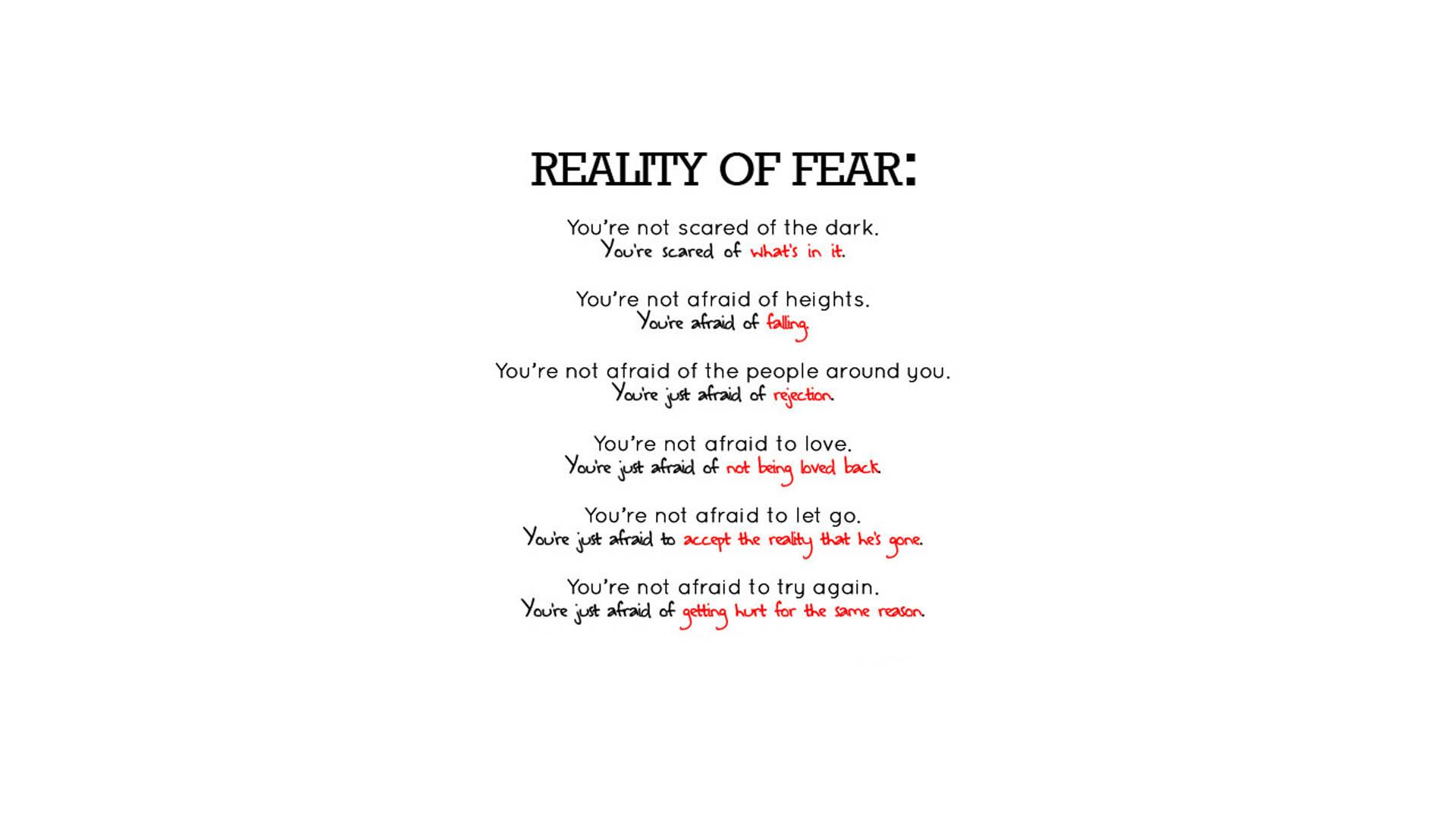 text fearful reality text only mind - Wallpaper (#1156392) / Wallbase.cc