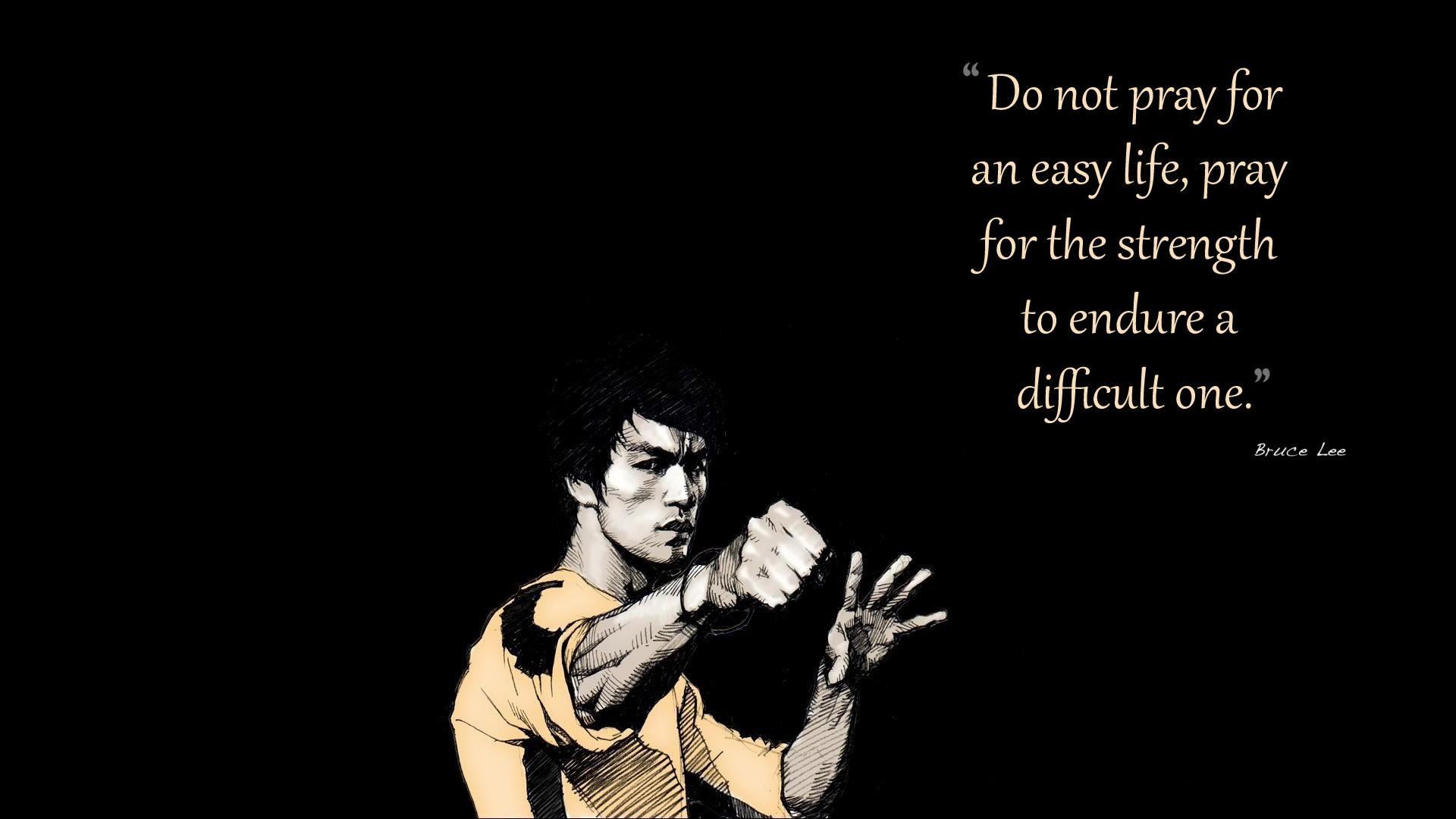 Bruce Lee quotes artwork black background - Wallpaper (#1758366) / Wallbase.cc