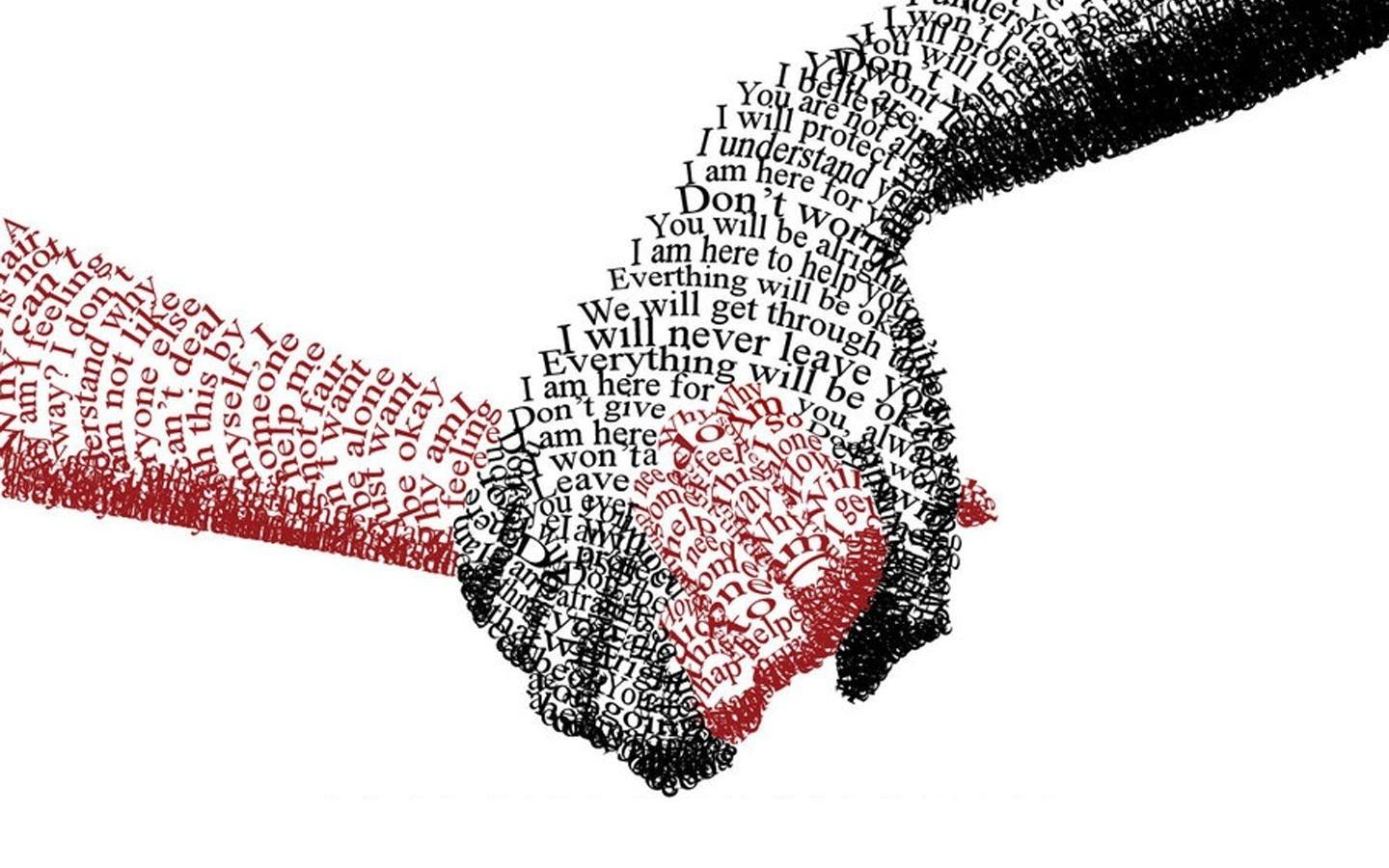 love text hands typography couple holding hands friendship Strength trust - Wallpaper (#460322) / Wallbase.cc