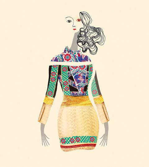 Mary Katrantzou - Lesley Barnes Illustration