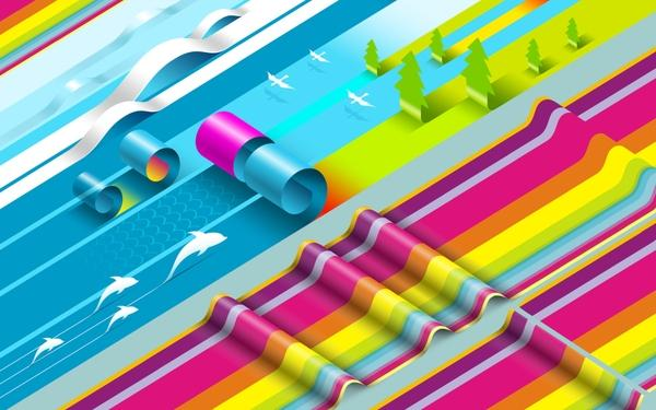 abstract,3D view 3d view abstract colorful waves deviantart 1680x1050 wallpaper – abstract,3D view 3d view abstract colorful waves deviantart 1680x1050 wallpaper – DeviantART Wallpaper – Desktop Wallpaper