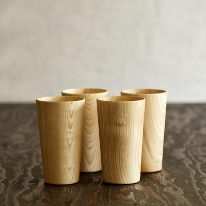 Muhs Home - Kami Wood Tall Cup