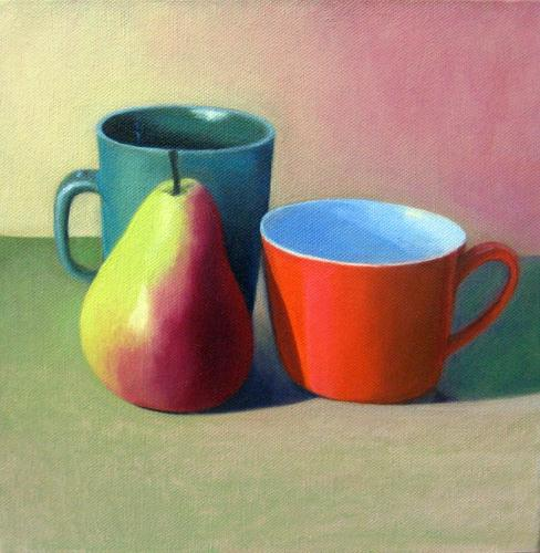Stella Downer Fine Art - Dealer Consultant & Valuer - Featuring work by Ishbel Morag Miller - Still life - (orange cup)