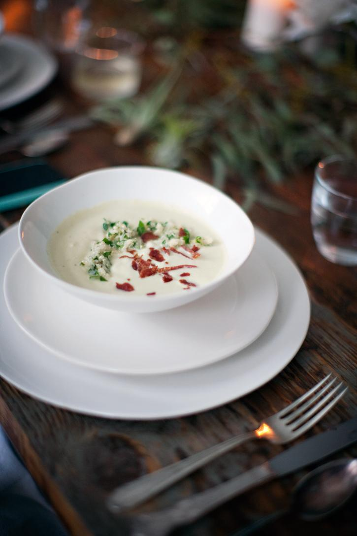 Artichoke Soup, crispy salami, lemon parsley quinoa « sundaysuppers