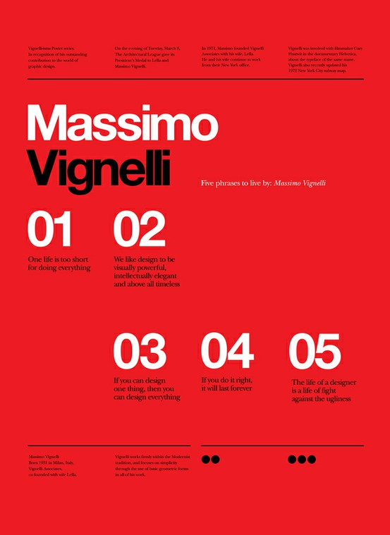 designs and packaging / Vignelli Forever