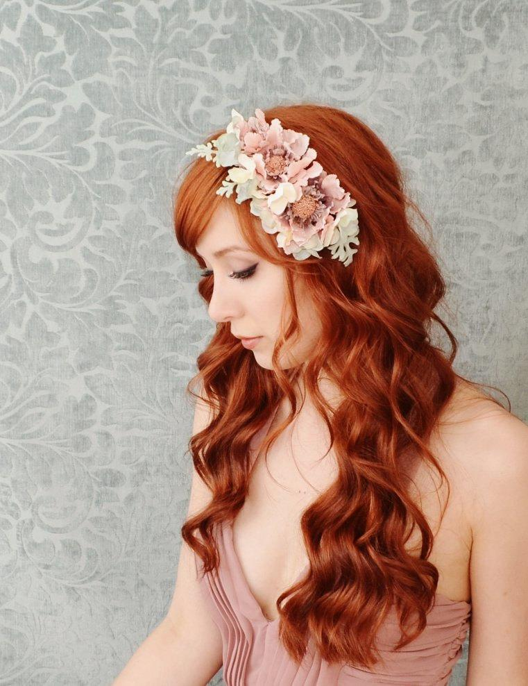 Emmylou pastel floral comb by gardensofwhimsy on Etsy