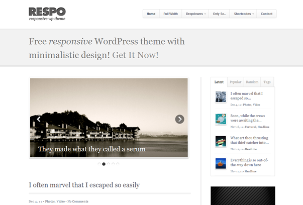 Free Responsive WordPress Themes 2012WPLift