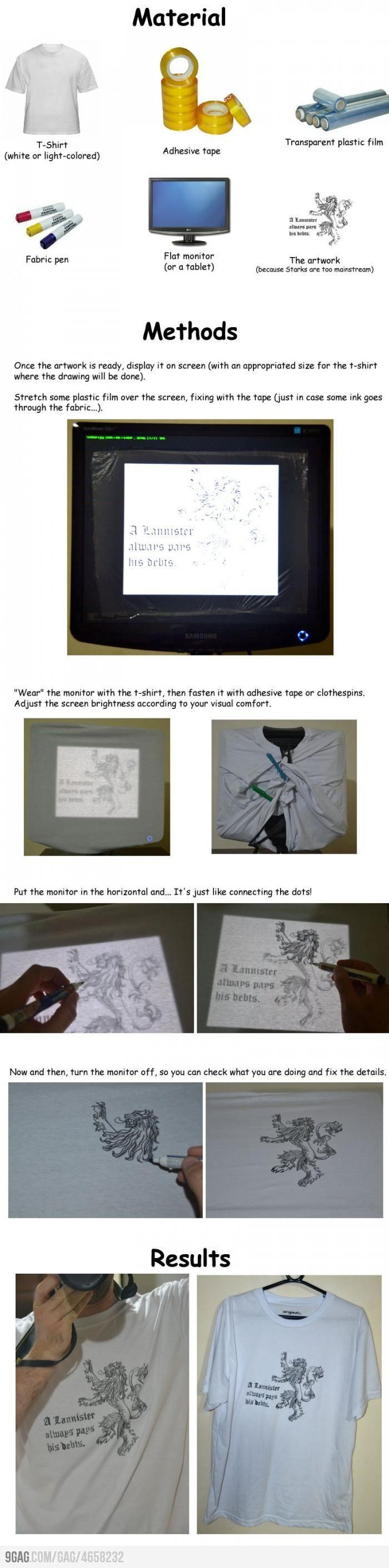 9GAG - Poor man's t-shirt printer