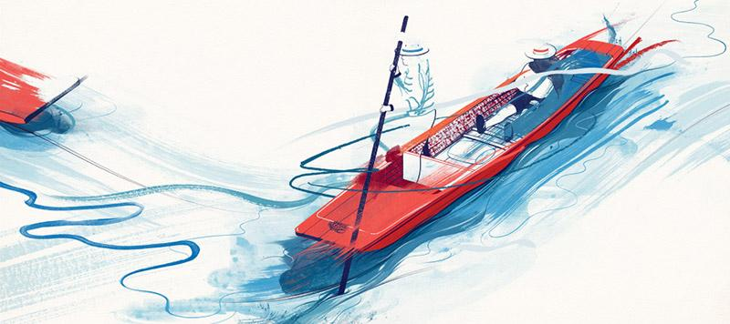 Energetic illustrations by Andrew Archer | The Fox Is Black