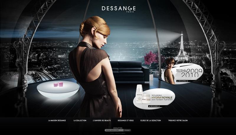 Direction Artistique Web pour dessange via Mediagong en Freelance > Creasenso