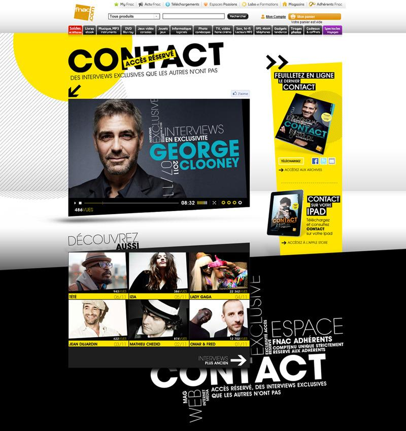 Direction Artistique Web pour Fnac via Textuel lamine en Freelance > Creasenso